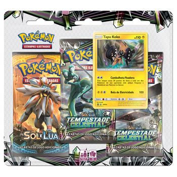 Triple-Pack-Pokemon-Tapu-Koko-Sol-e-Lua-7-Tempestade-Celestial-