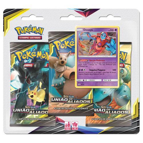 Pre-venda-Triple-Pack-Pokemon-Deoxys-Sol-e-Lua-9-Uniao-de-Aliados
