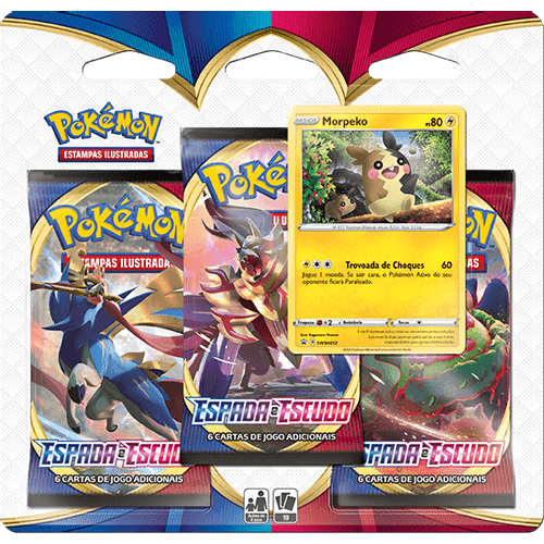 Pre-venda-Triple-Pack-Pokemon-Morpeko-Espada-e-Escudo-1