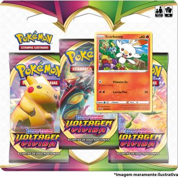 Triple-Pack-Pokemon-Scorbunny-Espada-e-Escudo-4-Voltagem-Vivida