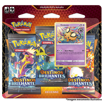 Triple-Pack-Pokemon-Dedenne--Destinos-Brilhantes-Colecao-Festa-Maluca