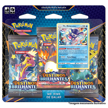 Triple-Pack-Pokemon-Mr.-Rime-de-Galar-Destinos-Brilhantes-Colecao-Festa-Maluca