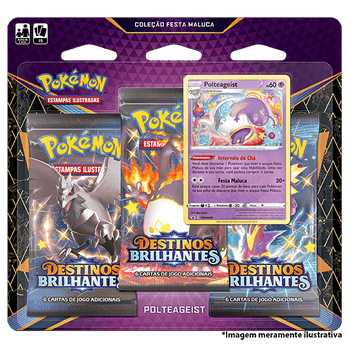 Triple-Pack-Pokemon-Polteageits-Destinos-Brilhantes-Colecao-Festa-Maluca
