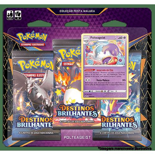 Triple-Pack-Pokemon-Polteageits-Destinos-Brilhantes-Colecao-Festa-Maluca