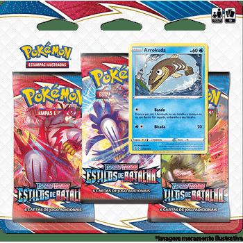 Triple-Pack-Pokemon-Arrokuda-Espada-e-Escudo-5-Estilos-de-Batalha