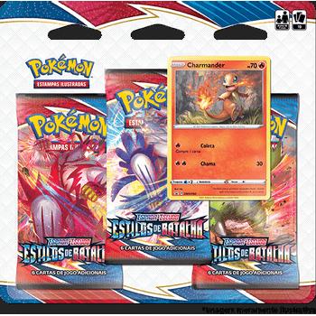 Triple-Pack-Pokemon-Charmander-Espada-e-Escudo-5-Estilos-de-Batalha