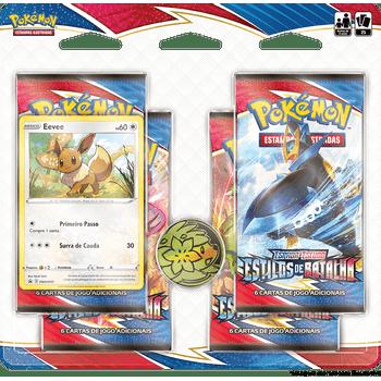 Blister-Quadruplo-Pokemon-Eevee-Espada-e-Escudo-5-Estilos-de-Batalha