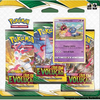Triple-Pack-Pokemon-Slowpoke-de-Galar-Espada-e-Escudo-7-Ceus-em-Evolucao